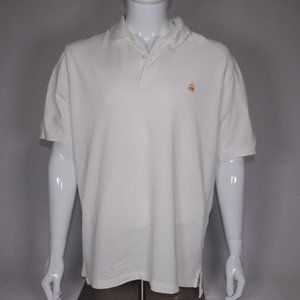 Brooks Brothers Men's Off-White Polo L With Stain